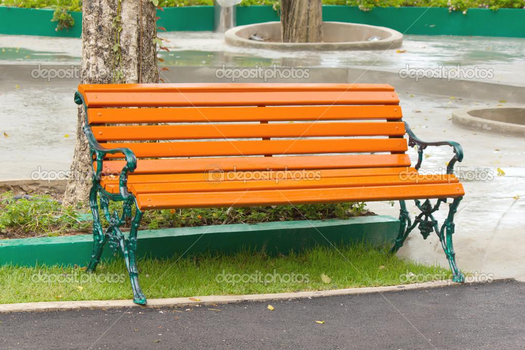 garden chair in beautiful garden — stock photo © singkamc #25431895