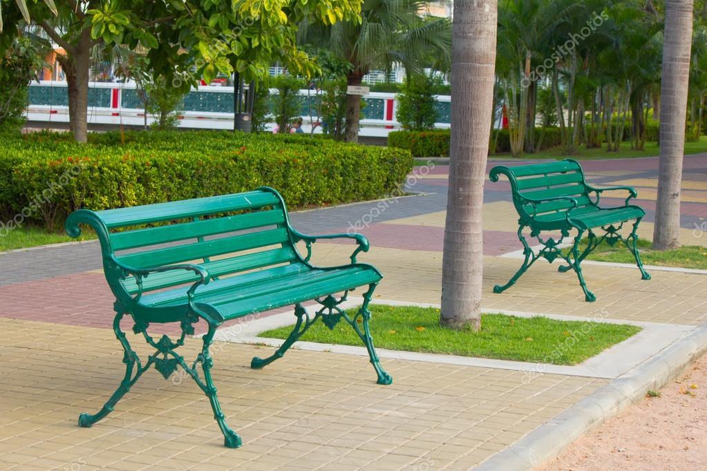 beautiful metal garden chair in garden — stock photo © singkamc