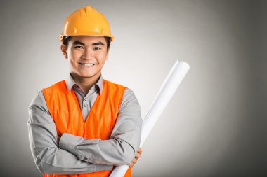 Confident constructor worker