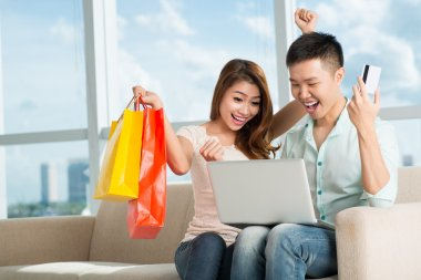Excitement of shopping
