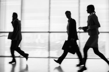 Businesspeople in a rush