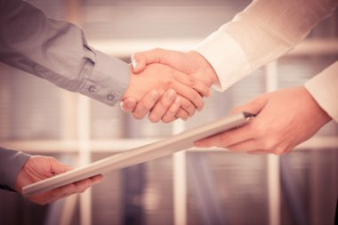 businessmen handshaking