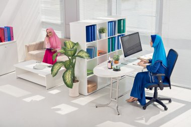 Working in the office