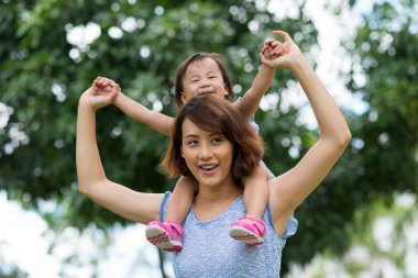 Chinese woman and her daughter