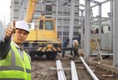 Fotografie předák stavební dělník