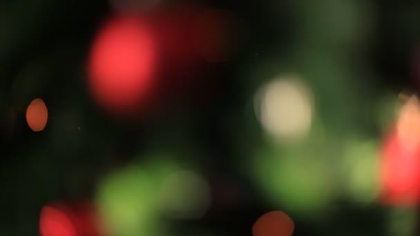 barevná světla účinky, vánoční stromeček pozadí