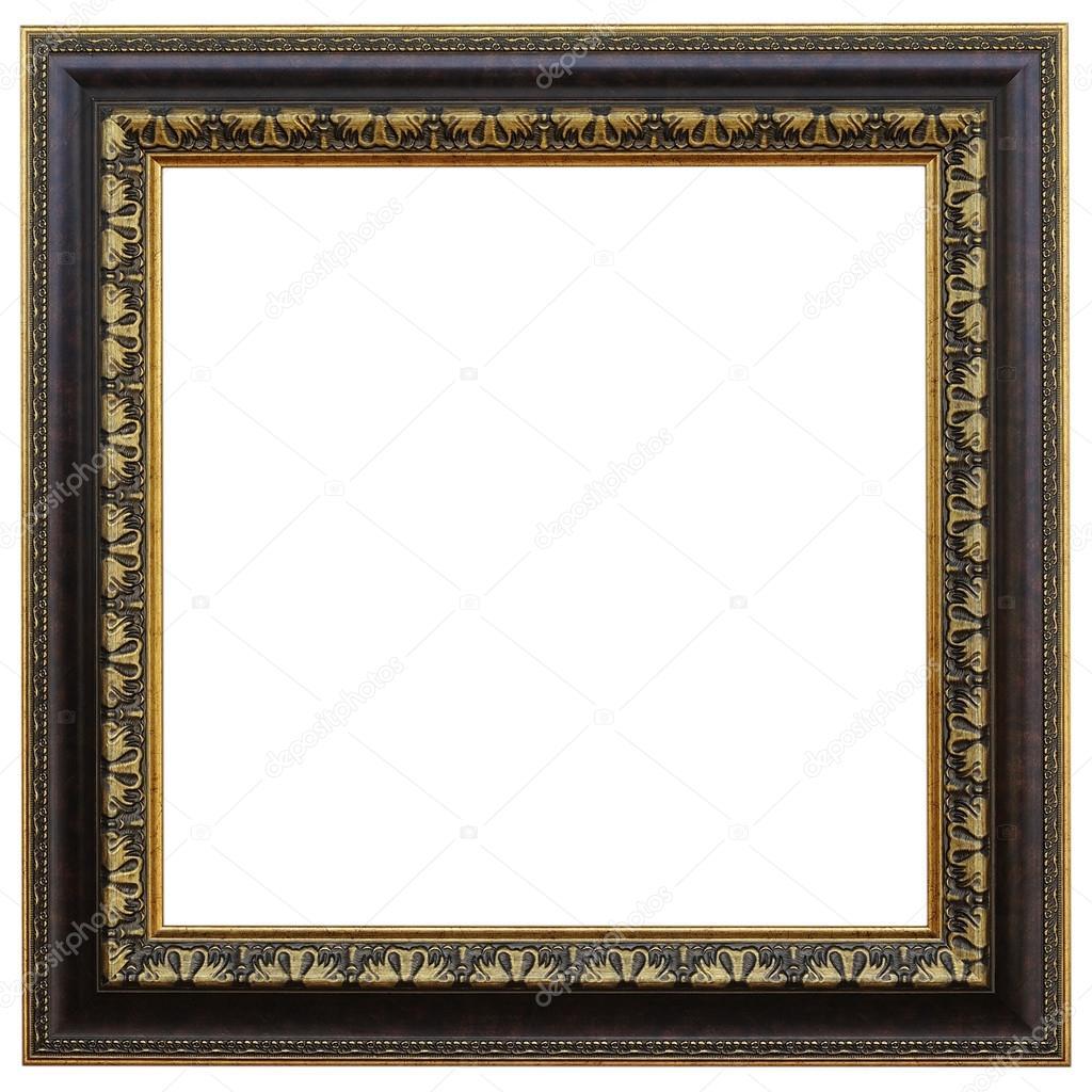 Antike Rahmen isoliert auf weißem Hintergrund — Stockfoto © 501room ...