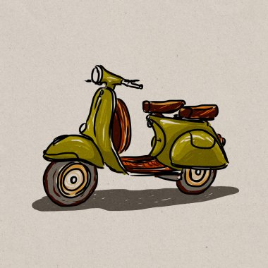 Scooter classic style.