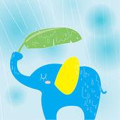 Fényképek elefánt esős napon