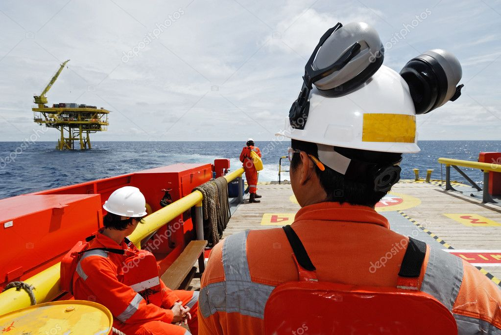 worker on the offshore rig.