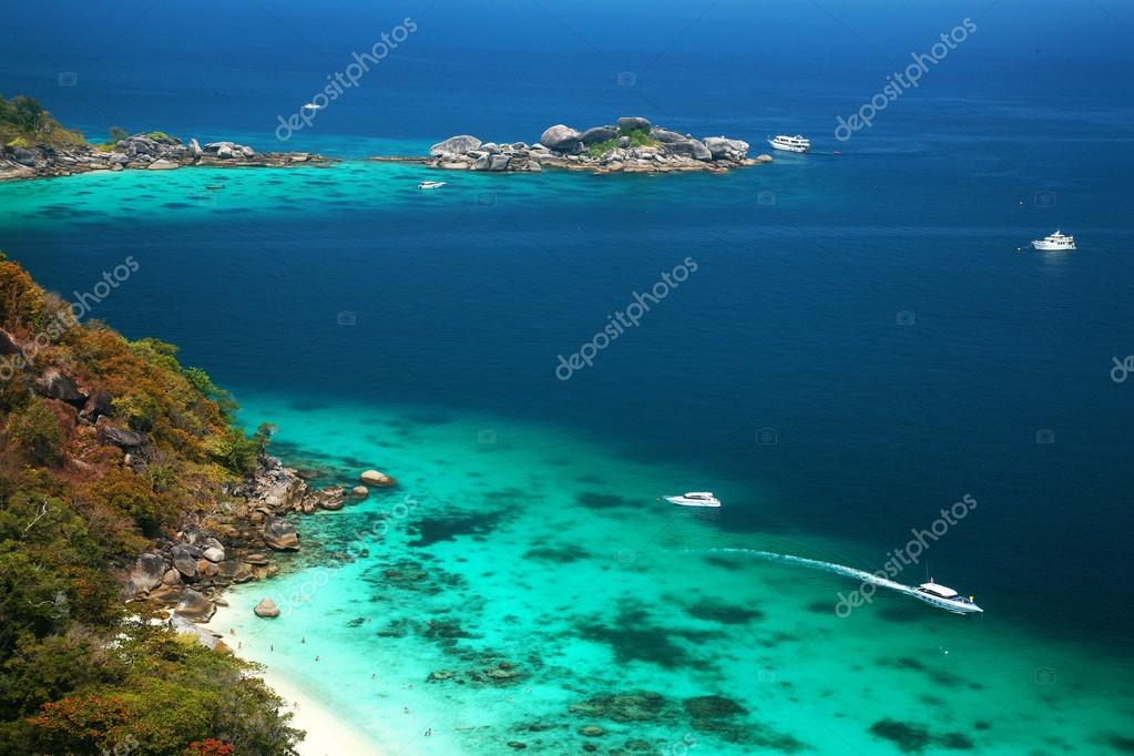 famous viewpoint of Similan Islands Paradise Bay, Thailand