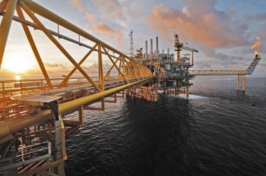 SONGKLA - OCTOBER 16: offshore rig in gulf of Thailand from Song
