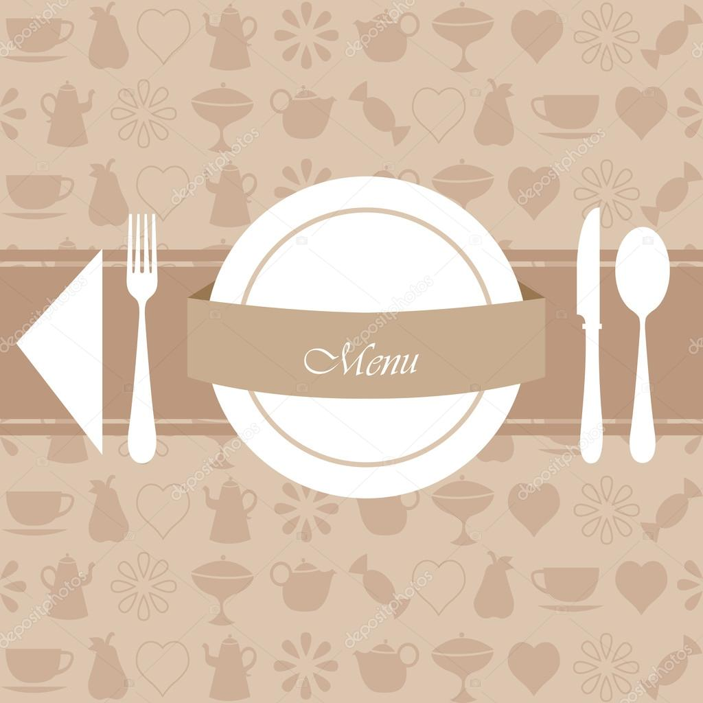 restaurant menu and background design — stock vector © rekaa #12724808