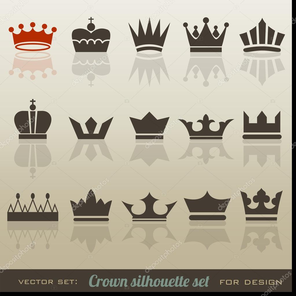 Crown collection and silhouette set