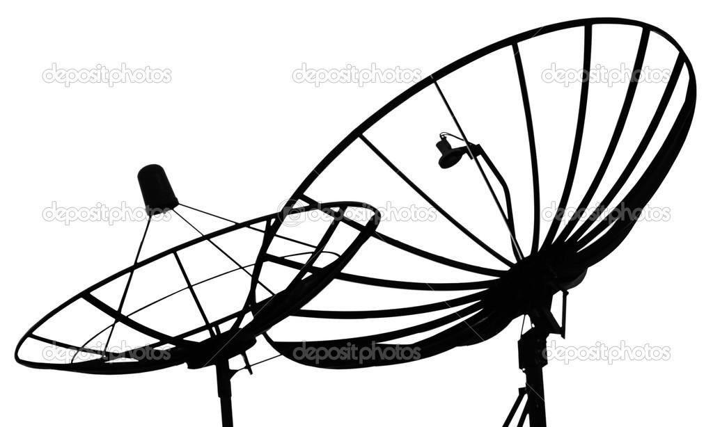 satellite dish on a white background stock photo tofudevil Satellite Dish for RV satellite dish on a white background stock photo
