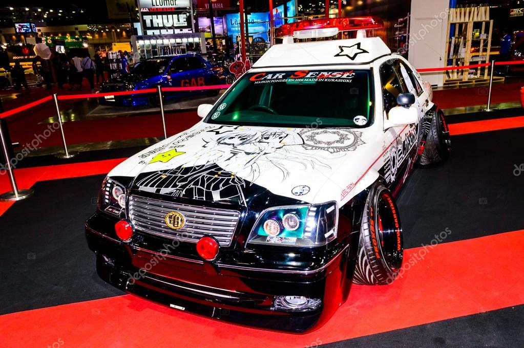 Modified Police Car and screen cartoon japan.