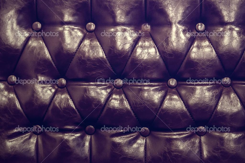 Texture vintage pelle del divano closeup girato u foto stock