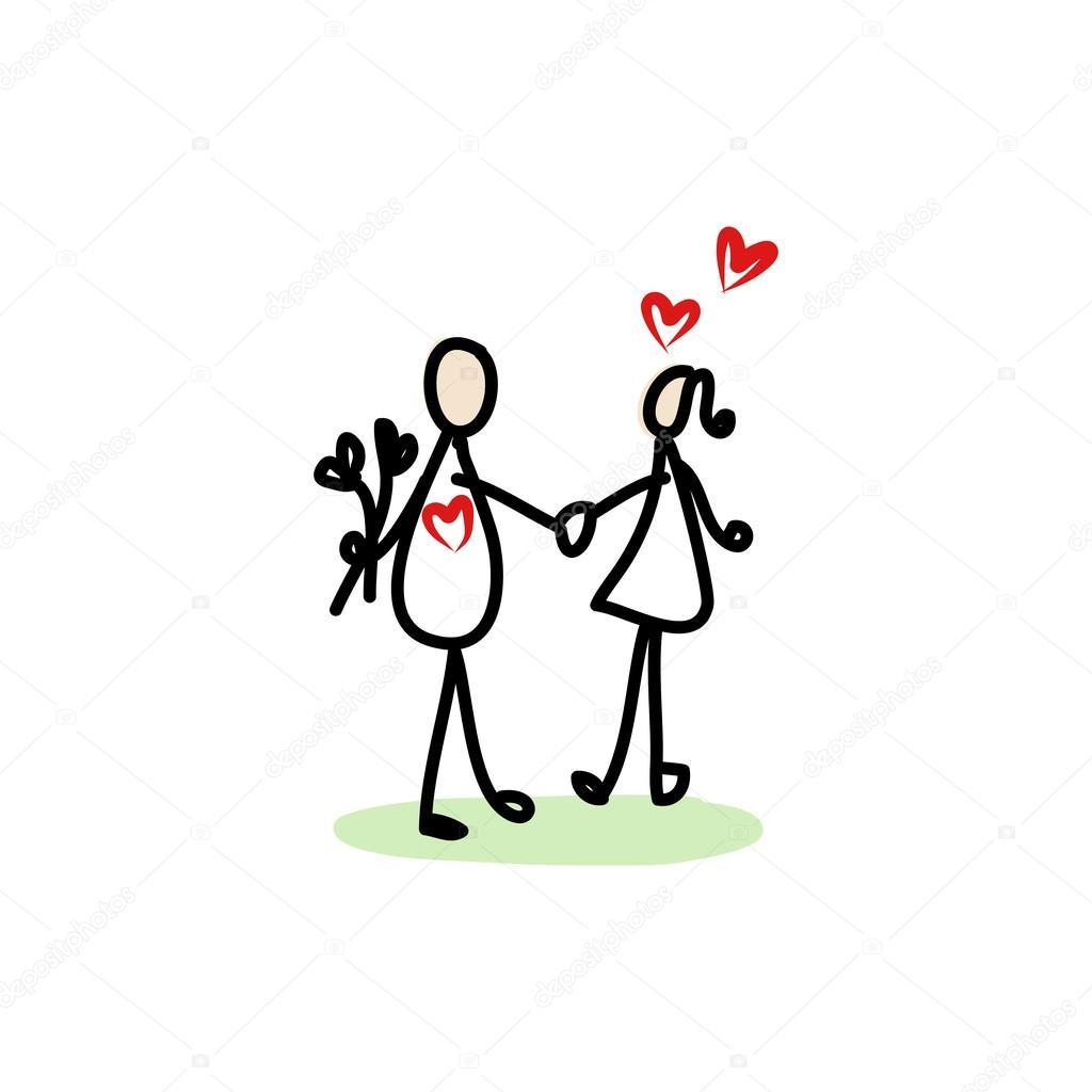 pareja de enamorados — Vector de stock © atthameeni #31147159