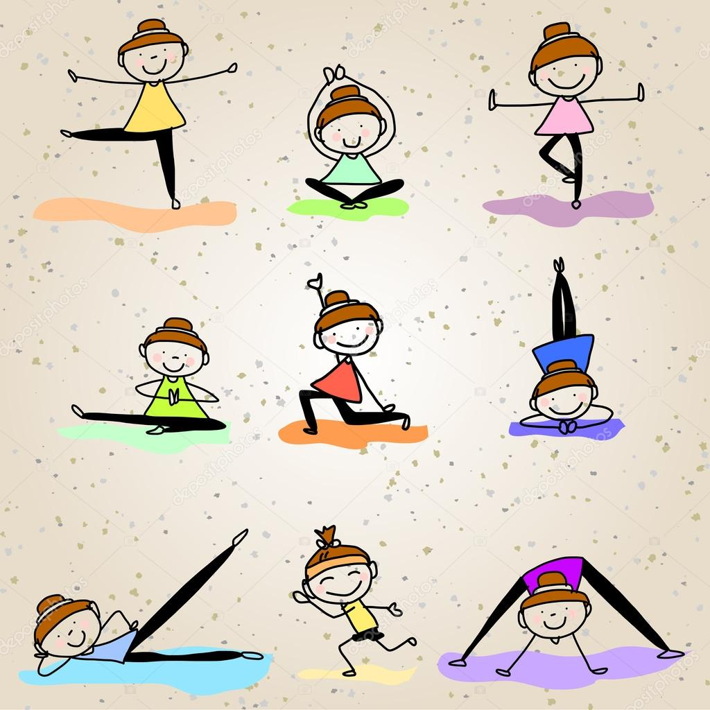 ᐈ Animation Girl Drawing Stock Drawings Royalty Free Animated Yoga Animated Download On Depositphotos