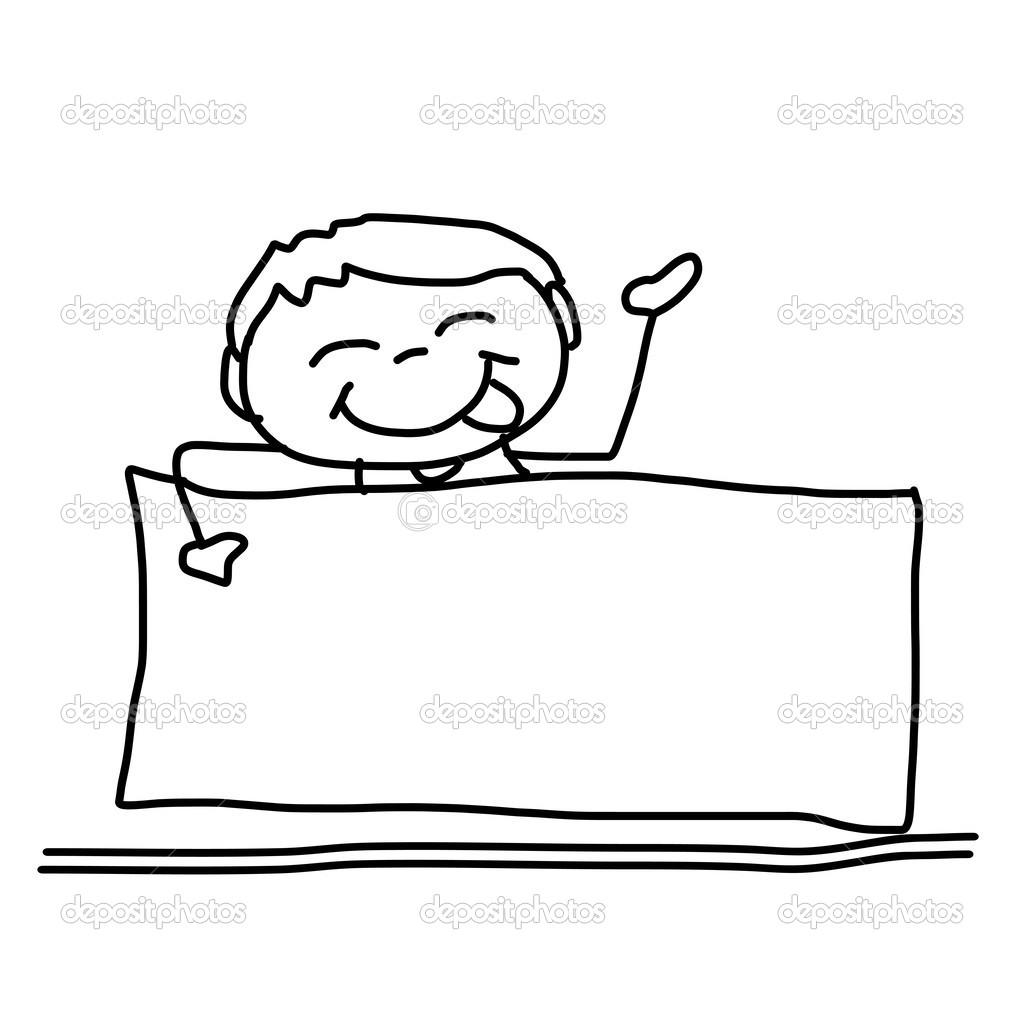 Imágenes Pizarrones Animados Niño Feliz De Dibujos Animados