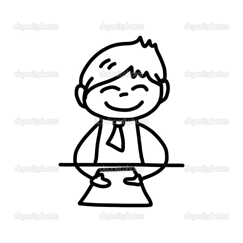 Mano Disegno Vita Felice Del Personaggio Dei Cartoni Animati