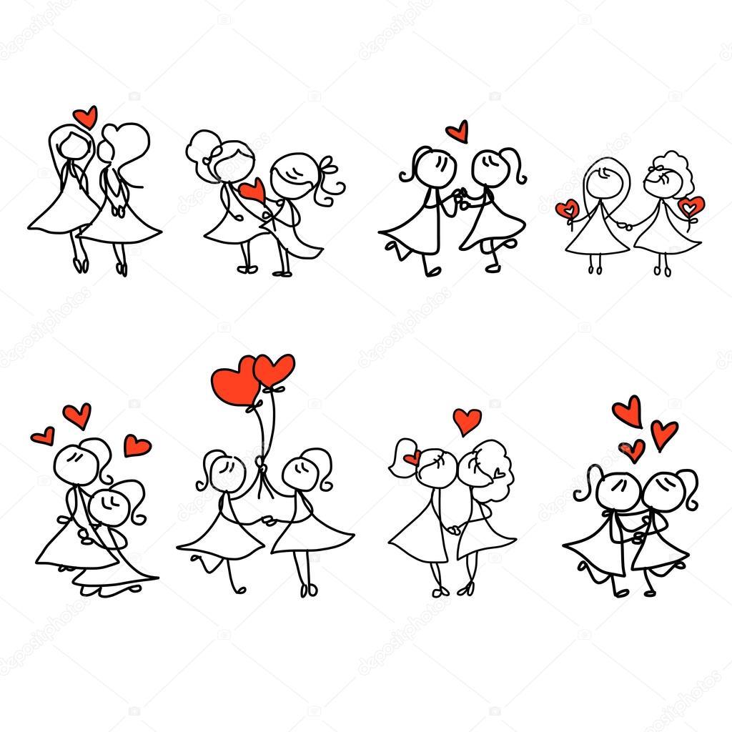 esküvői rajzolt képek kézi rajz rajzfilm boldog pár esküvői — Stock Vektor © atthameeni  esküvői rajzolt képek