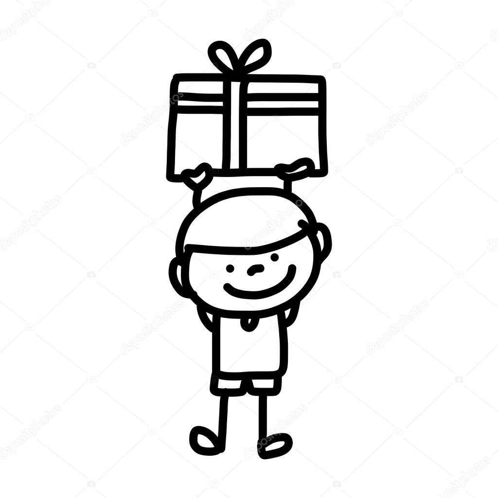 Hand Tekening Cartoon Verjaardag Stockvector C Atthameeni 49459949