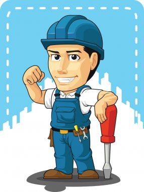 Cartoon of Technician or Repairman