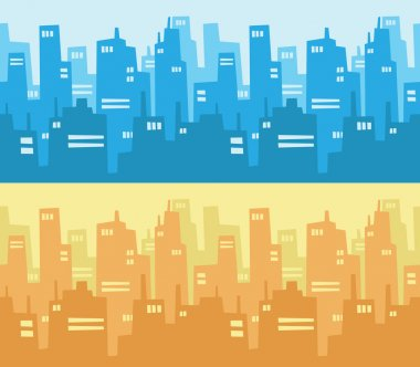 City Skyscraper Silhouette Background