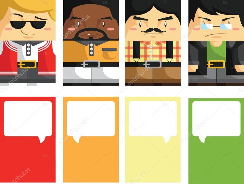 creativas tarjetas de visita con Ilustración personalizable 3 ...