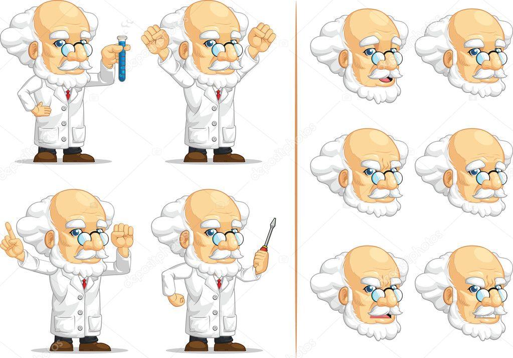 Scientifique ou professeur mascotte personnalisable