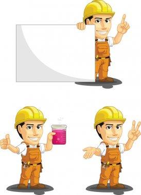 Industrial Construction Worker Customizable Mascot 6