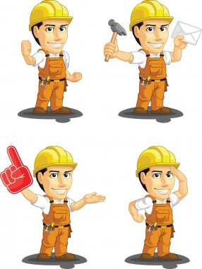 Industrial Construction Worker Customizable Mascot 9