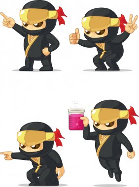 Ninja Customizable Mascot 5