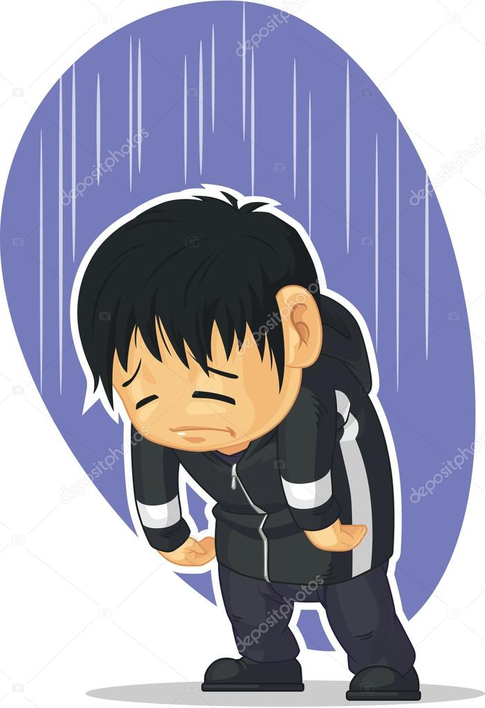 Dessin Anime De Garcon Triste Image Vectorielle Bluezace C 34178709