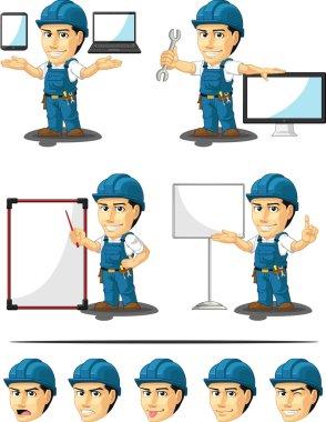 Technician or Repairman Customizable Mascot 16