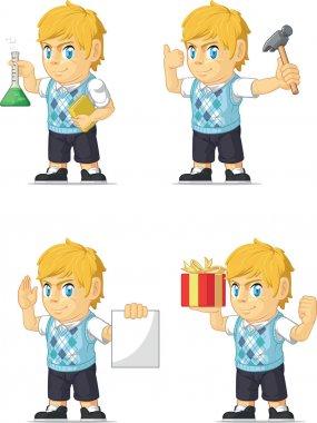 Blonde Rich Boy Customizable Mascot 6