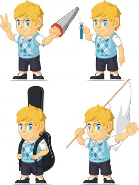Blonde Rich Boy Customizable Mascot 7