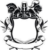 Fotografie Knight  Shield Silhouette Ornament