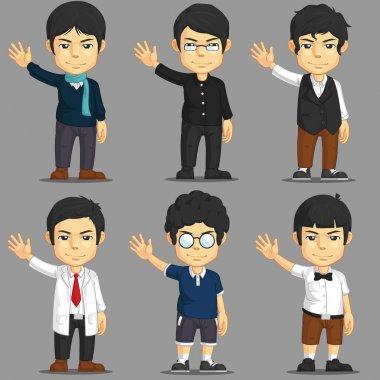 Man Cartoon Character Set