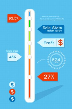 Infograpihc of sale status clip art vector