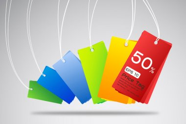 Colorful price tag