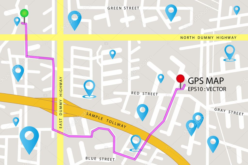 GPS map icon