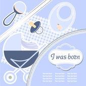 Baby boy oznámení karta