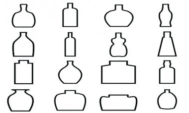 Bottle Icon with White Background