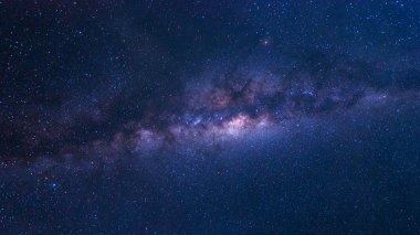 Colorful space shot of milky way galaxy with stars and space dust