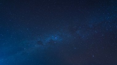 Extreme long exposure image showing stars on sky