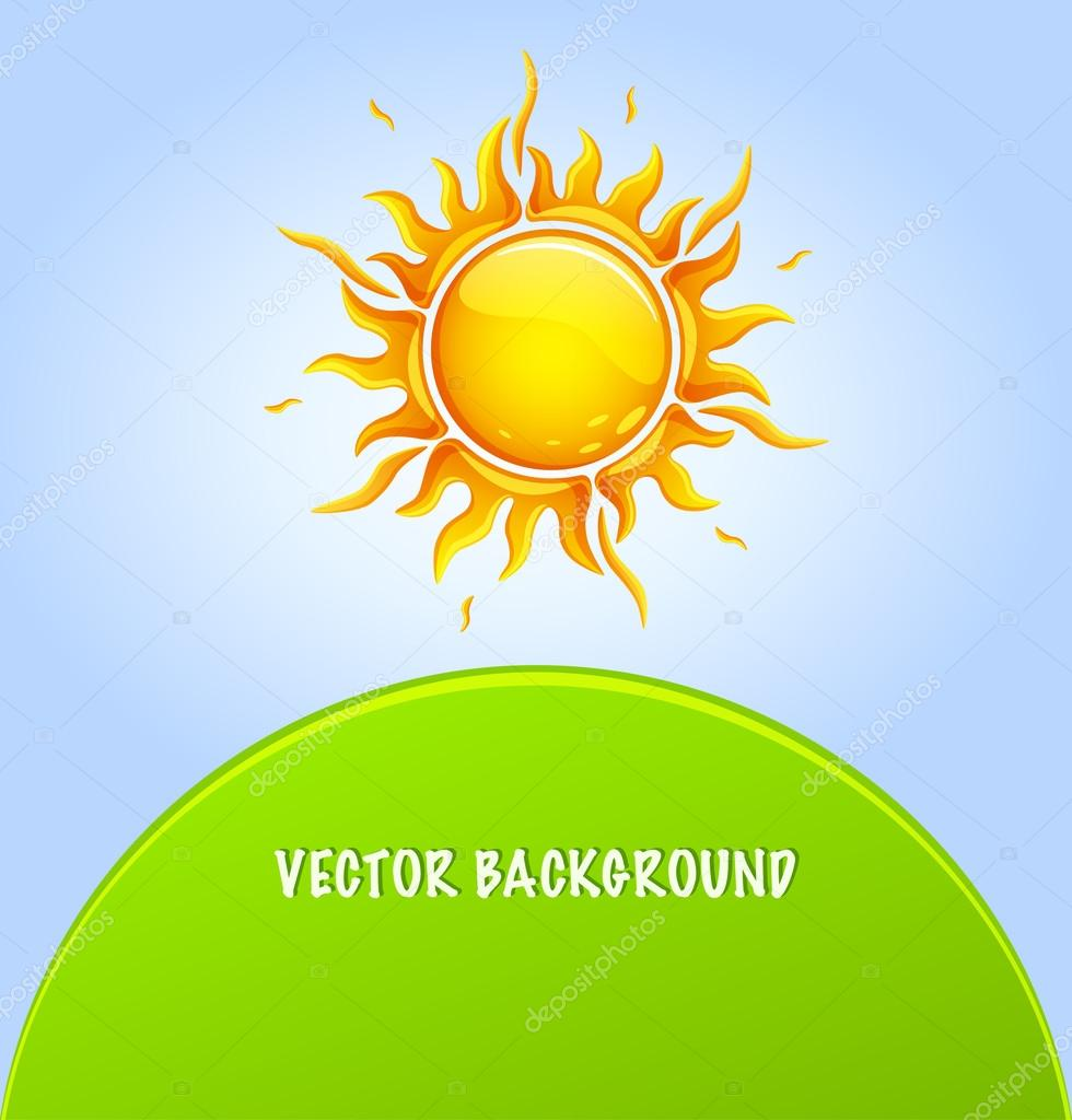 Stylized vector sun background