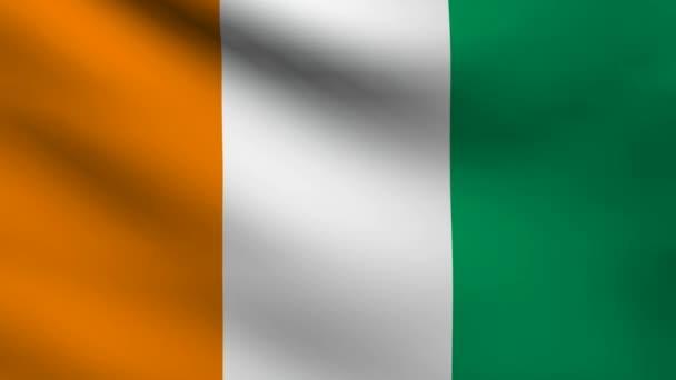 Ivory coast flag.
