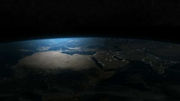 The earth in the night, aerial